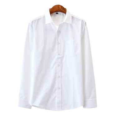 New Fashion Cotton Long Sleeve Shirt Solid Dress Shirt