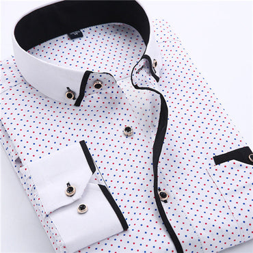 Dress Shirt New Arrival Long Sleeve Slim Fit Button Down