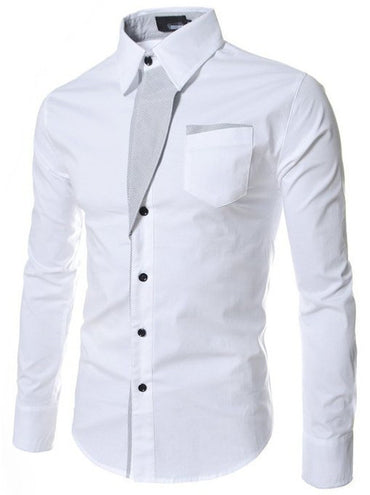 shirts Camisa Masculina Long Sleeve Dress Shirt