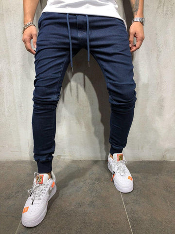 Fashion Casual Slim Fit Straight Stretch Feet Skinny Zipper Jeans