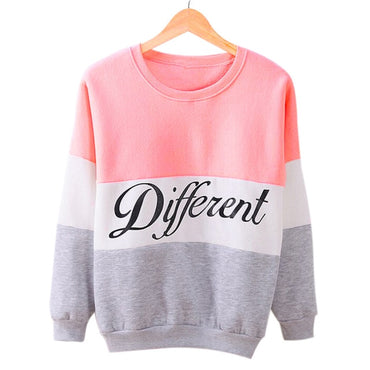 Hoodies Patchwork Printed letters casual Sweatshirt