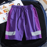 New Casual Shorts Reflective Strip Trend Shorts