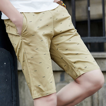 Cotton New Casual Elastic Waist Fashion Beach Shorts