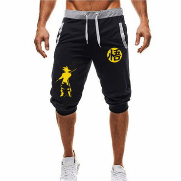 Casual Fashion Dragon Ball Goku print Sweatpants Fitness Short