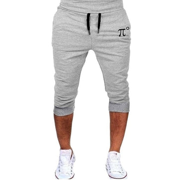 Fitness Slim Fit Sport Pants Print Shorts