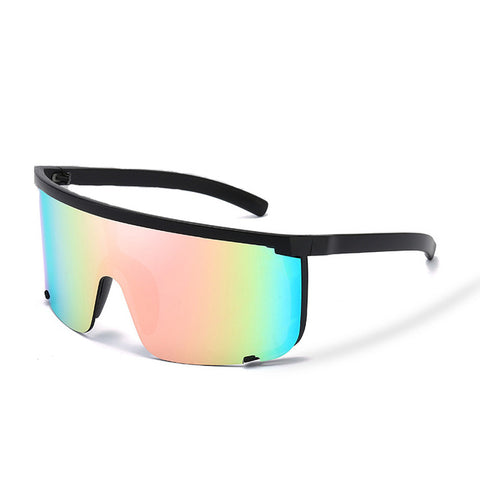 Oversize Mask Shape Shield Visor Sunglasses