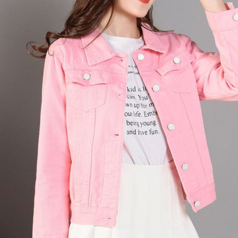 New Fashion Denim Jackets Autumn Casual Long Sleeve