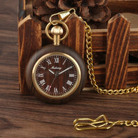 Creative Wood Watch Pocket Watches Retro Walnut Wood
