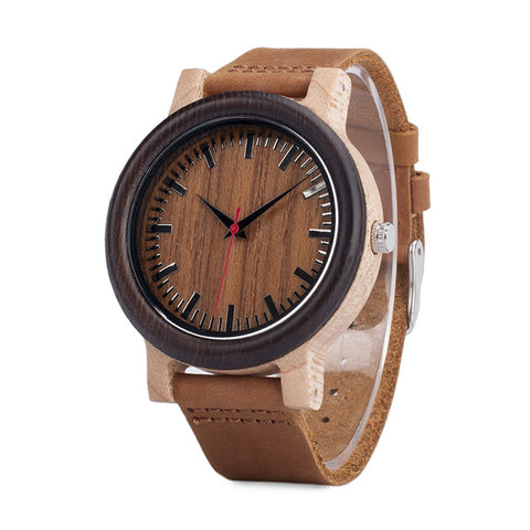 relogio masculino Fashion Quartz Clock Wood Watches