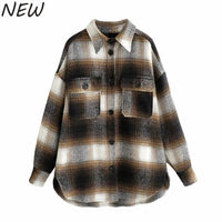 Vintage long sleeve woolen coats fashion