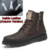 Brand Shoes New Genuine Leather Ankle Martens Boots