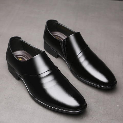 Oxfords shoes set of feet Black Brown Male Office Wedding shoes