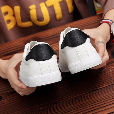 Casual Soft Leather Shoes Brand Fashion Male White Shoes