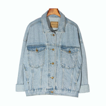 Vintage Jacket Oversize Denim Jackets Washed Blue Jeans