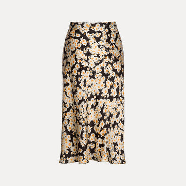 Floral Print Girls Pencil Fashion High Waist Slim Skirt