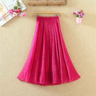 Candy Colors Chiffon Skirts Elastic High Waist Beach Bohemian