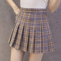 Preppy Style High Waist Chic Stitching Skirts