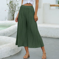 Calf-Length Elastic High Waist Bohemian Boho Holiday Pants