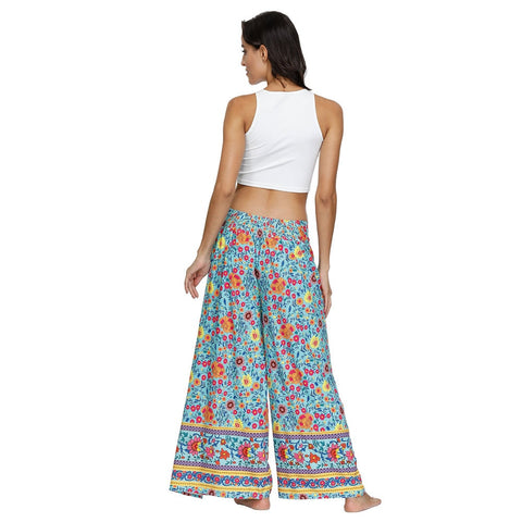 Bohemian Wide Leg Pants Beach Fitness Trousers