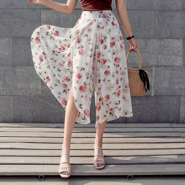 Boho High Quality Wide Leg Casual High Waist Pants