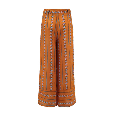 High Elastic Waist Vintage Soft Stretch Ethnic Style Wide Leg Pants