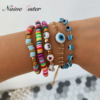 Cute Ethnic Jewelry Boho Style Colorful Beaded Bracelet Sets