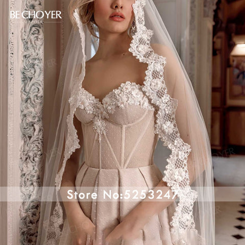 Sweetheart 3D Flowers Wedding Dress