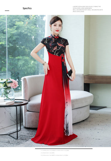 Improved Slimming Long Large Chorus Long Skirts Formal Dress