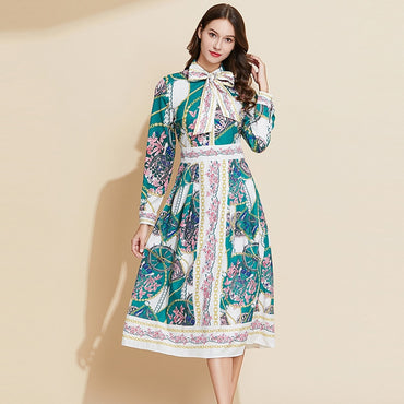 Elegant Fashion Dress Body Hugging Comfortable Long Printed Dress