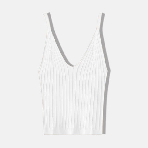 Sexy Knitted Crop Top  Sleeveless ped Vest Slim