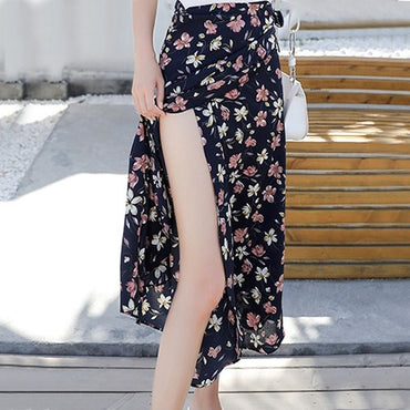 Flower Long Skirt Beach Sunny Female Skirts