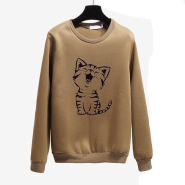 Cute Happy Cat Harajuku Hoodies Sweatshirt