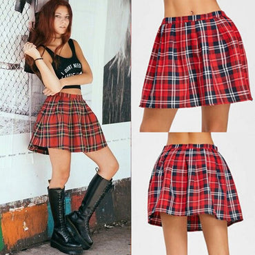 High Quality School Uniform Fashion Plaid Short Skirt
