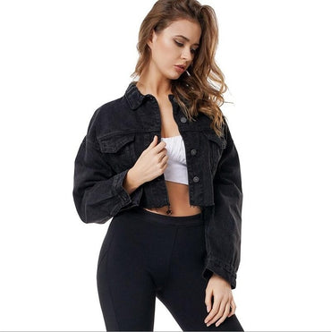 High Street Single Breasted Solid Short Jackets