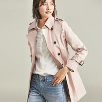 Fashion Trench Coat Long Slim Overcoat Female