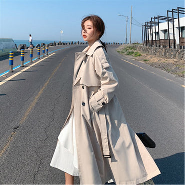 New Fashion Long Trench Long Sleeve Windbreaker Overcoats