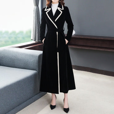 Woolen Coat Long Trench Coats Female Fashion Large Size