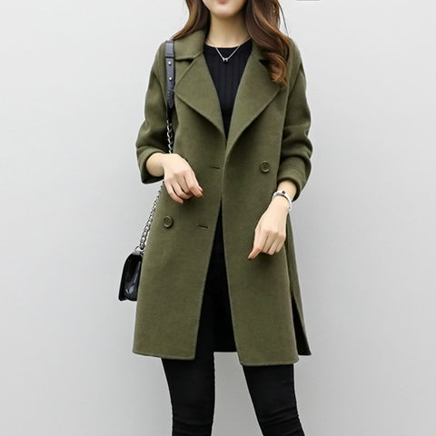 Long And Medium Length Double-breasted Woolen Coat