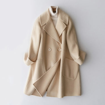 Double Side Wool Coat Female Long Jackets