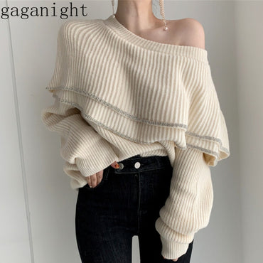 Gagagnight Fashion Knitted Sweater Long Sleeve