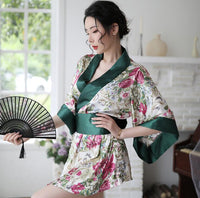 Sexy Bathrobe Short Nightgown Kimono