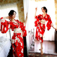 Print Coat Sexy Kimono Chiffon Cardigan Uniform Long Outer Garment