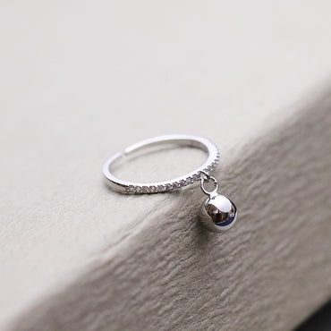 New Arrival Sterling Silver Small Ball Pendant Rings