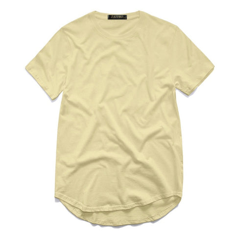 Kanye West Extended Round Sweep Curved Hem Long line Tops