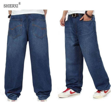 New Fashion baggy dark blue color Hiphop loose skateboard jeans