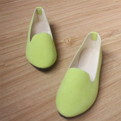 Candy Color Fashion Sweet Casual Zapatos Plus Size Flat shoes