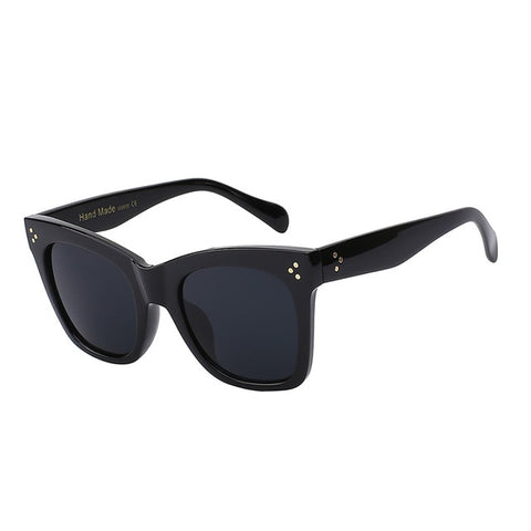 Square Sunglasses Cat Eye Luxury Brand Big Black Sun Glasses Mirror Shades