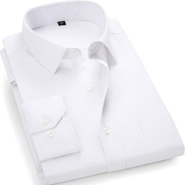 Classic White Black Dark Blue Male Social Dress Shirts