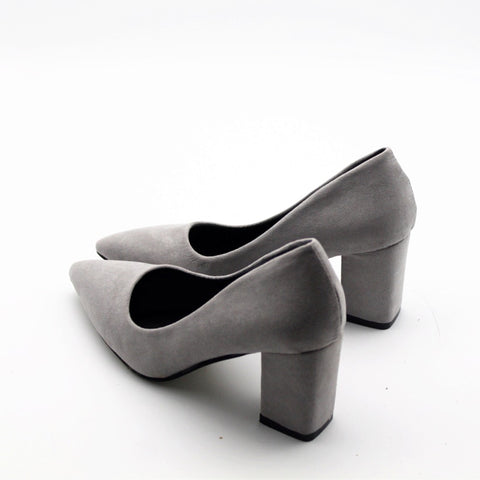 fashion high quality suede pumps female sexy black slip on summer high heels