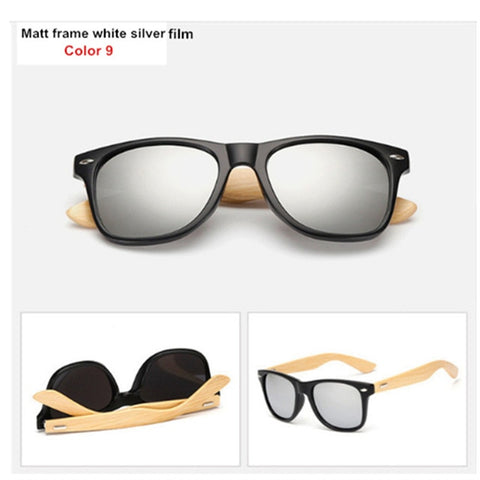 Bamboo Travel Goggles Vintage Wooden Leg Eyeglasses Brand Design Sunglasses